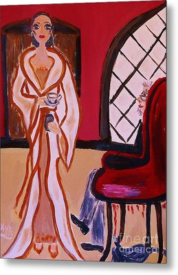 Ls Shai In Grandfather Why Are The Servants Off When You  Knew I Was Coming Metal Print by Marie Bulger