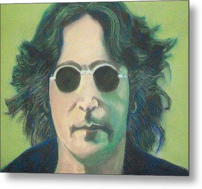 Lsd John Lennon Metal Print by Fernando A Hernandez