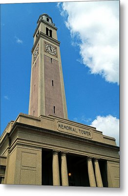 Lsu Memorial Tower Metal Print by Replay Pgotos