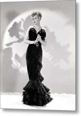 Lucille Ball Models A Lovely Black Metal Print by Everett
