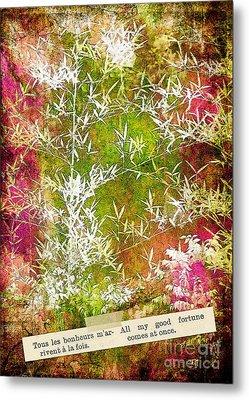 Lucky Bamboo Metal Print by Judi Bagwell