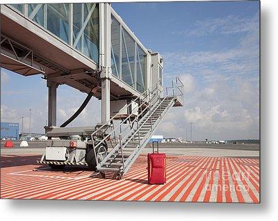 Luggage At A Gate Bridge Metal Print by Jaak Nilson