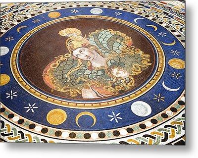 Lunar Phases, 3rd Century Roman Mosaic Metal Print
