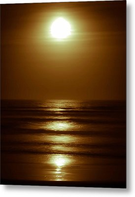 Lunar Tides I Metal Print by DigiArt Diaries by Vicky B Fuller