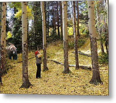 Metal Print featuring the photograph Lunch? by Nava Thompson