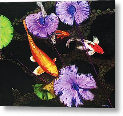 Metal Print featuring the painting Lunch Time by Dan Menta