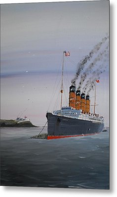 Lusitania At Roches Point Metal Print by James McGuinness
