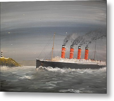 Lusitania Off The Old Head Metal Print by James McGuinness