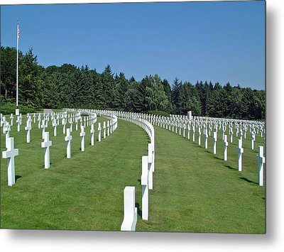 Luxembourg World War II American Cemetery  Metal Print