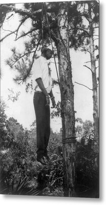 Lynched African American Man Hanging Metal Print by Everett