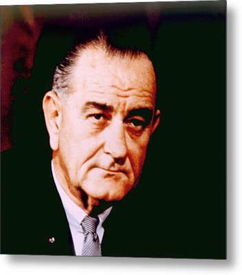 Lyndon B. Johnson 1908-1972, U.s Metal Print by Everett