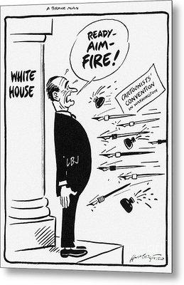 Lyndon B. Johnson: Cartoon Metal Print by Granger