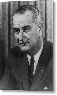 Metal Print featuring the photograph Lyndon B Johnson by International  Images