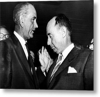 Lyndon Johnson. Us Senate Majority Metal Print by Everett