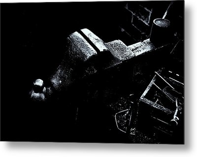 Metal Print featuring the photograph Machine Vise by Tom Singleton