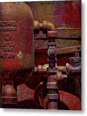 Machinery Grunge Metal Print by Nancie Rowan