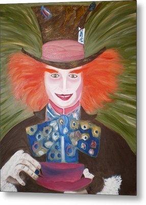 Mad Hatter  Metal Print by Shannon Schow