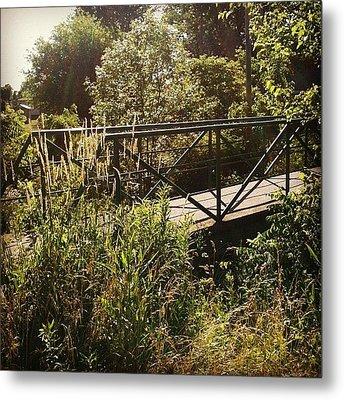 Maddox Bridge Metal Print by Jeff Guilkey