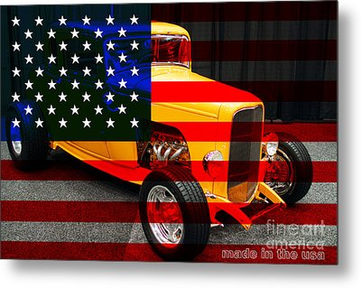 Made In The Usa . 1932 Ford 5 Window Coupe Metal Print by Wingsdomain Art and Photography