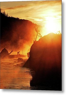 Madison River At Sunrise Metal Print by by Adam Christensen
