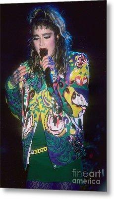 Madonna 1985 Metal Print by David Plastik