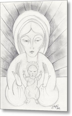 Madonna And Child Metal Print by John Keaton