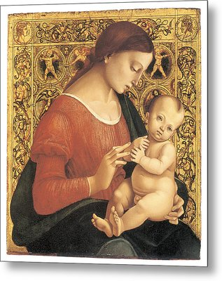 Madonna And Child Metal Print by Luca Signorelli