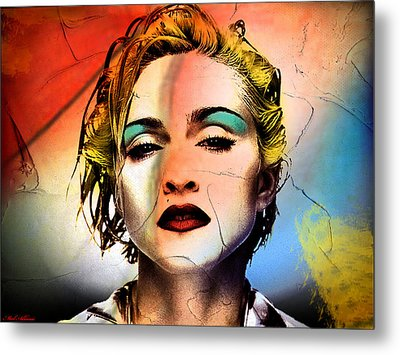 Madonna  Metal Print by Mark Ashkenazi