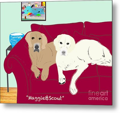 Maggie And Scout Metal Print by Cheryl Snyder