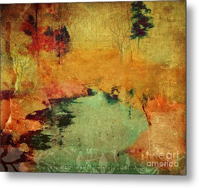 Magic In Autumn Mist Metal Print by Sacred  Muse