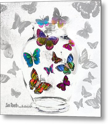 Magic Moth Jar Metal Print by Suni Roveto