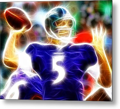 Magical Joe Flacco Metal Print by Paul Van Scott