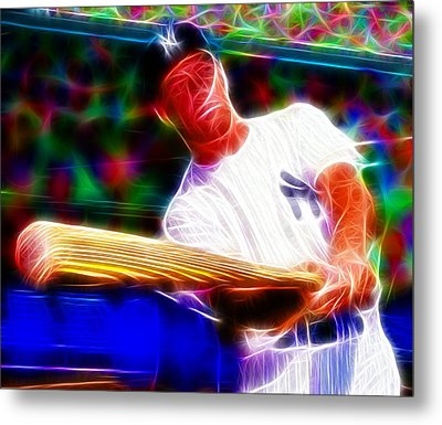 Magical Mickey Mantle Metal Print by Paul Van Scott