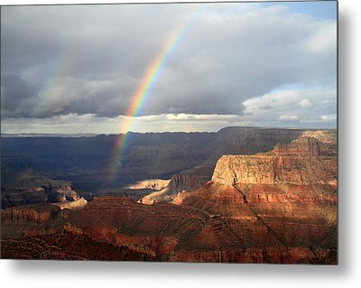 Magical Rainbow In The Grand Canyon Metal Print by Pierre Leclerc Photography