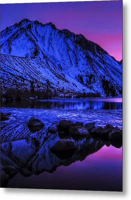 Magical Sunset Over Mount Morrison And Convict Lake Metal Print by Scott McGuire
