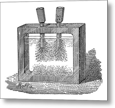 Magnetic Field Experiment, 19th Century Metal Print by