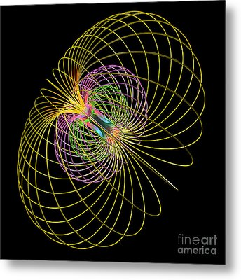 Magnetism 2 Metal Print by Russell Kightley
