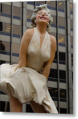 Magnificent Marilyn Metal Print by Julia Wilcox