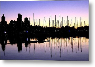 Magnificent Vancouver Sunset Metal Print