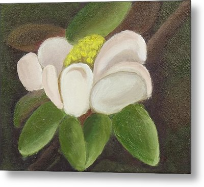 Metal Print featuring the painting Magnificient Magnolia by Margaret Harmon
