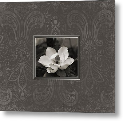 Magnolia Art Metal Print by Mary Hershberger