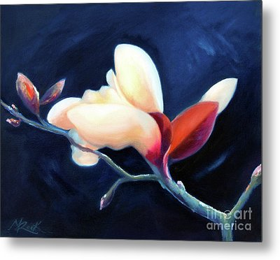 Metal Print featuring the painting Magnolia Blossom by Michael Rock
