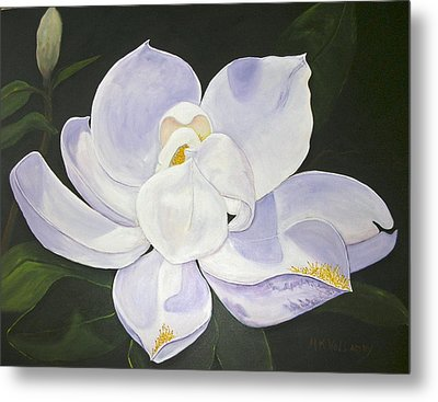 Magnolia Metal Print by Mary Kay Holladay
