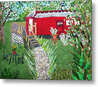 Mail Car Guest House At Lacaboose B And B Metal Print by Charlene White