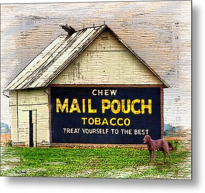 Metal Print featuring the digital art Mail Pouch Barn by Mary Almond