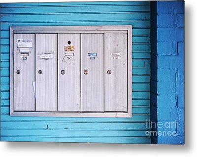 Mailboxes Metal Print by HD Connelly