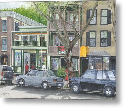 main st so Piermont NY Metal Print by Stuart B Yaeger