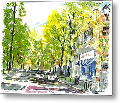 Main Street Greenville Spring Metal Print