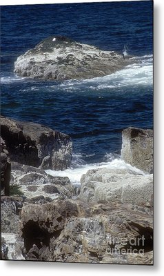 Maine Coast Surf Metal Print by Darleen Stry