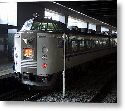 Maizuru Electric Train - Kyoto Japan Metal Print by Daniel Hagerman